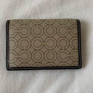 COACH - mens tan, bifold wallet